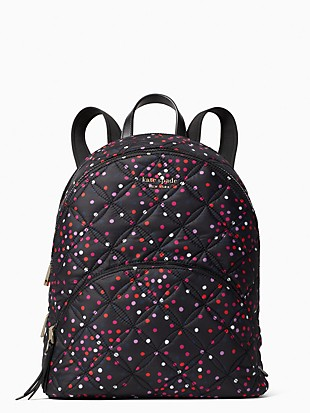 karissa nylon quilted festive confetti large backpack