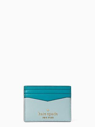 staci colorblock small slim card holder