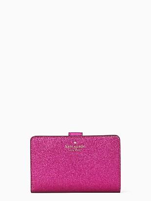 lola glitter boxed medium compact wallet