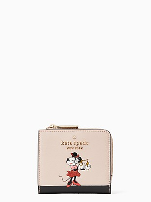 disney x kate spade new york minnie no window l-zip bifold