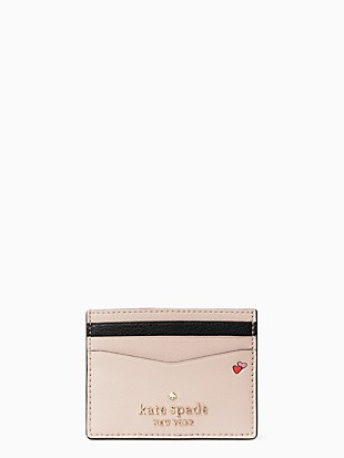 disney x kate spade new york minnie small slim cardholder