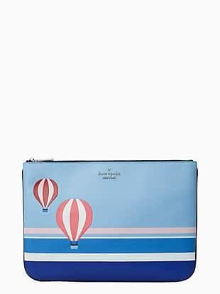 hot air balloon large zip pouch