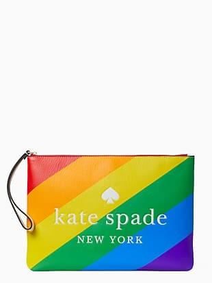 rainbow large zip pouch