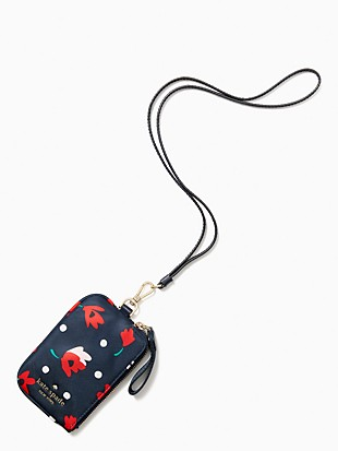 chelsea whimsy floral cardcase lanyard
