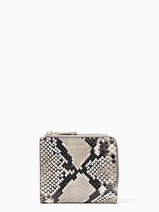 eva exotic small l zip bifold wallet