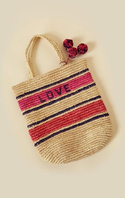 LOVE RAFFIA TOTE | Sale