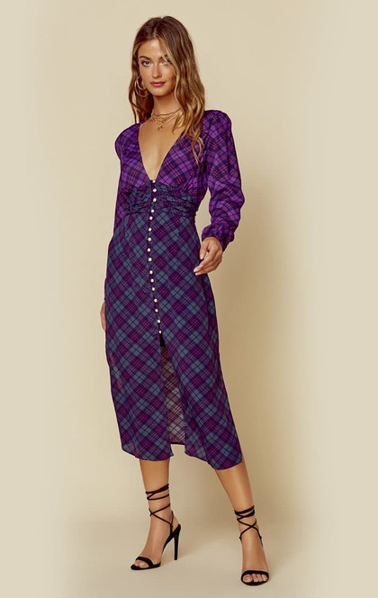 COLORBLOCK PLAID TRISTA DRESS | Sale