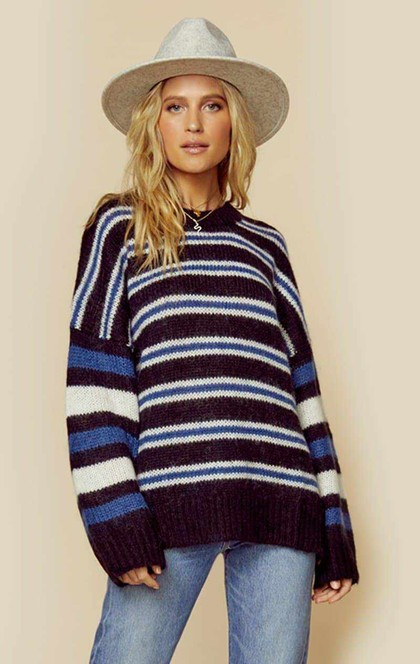 BONNIE STRIPE MOHAIR SWEATER | Sale