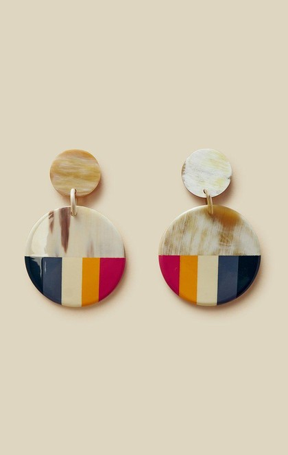 MEDIUM RAINBOW CIRCLE EARRINGS