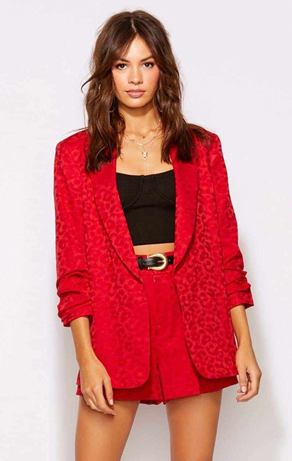 LEOPARD RISKY RED