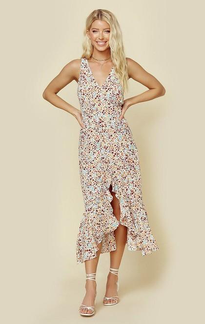 TALINA RUFFLE DRESS