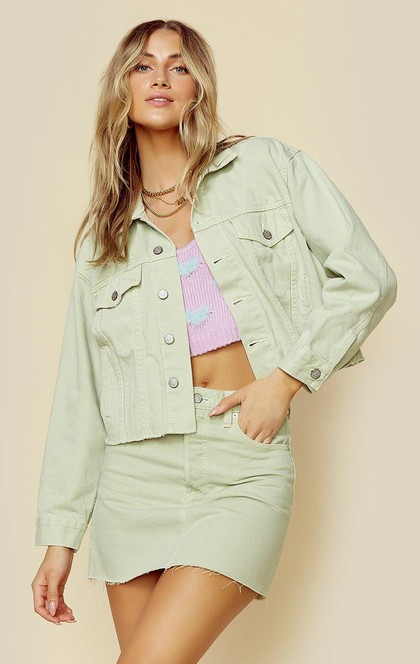 HARVEY CROP DENIM JACKET | New