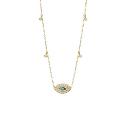NECKLACE W/ EMERALD AND DIAMONDS