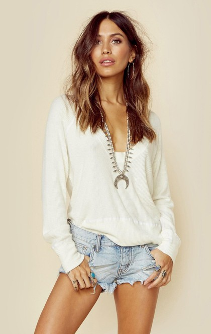 RIB KNIT SUMMER NIGHTS SWEATER | Sale